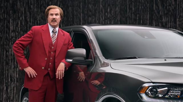 Ron Burgandy does a Dodge Durango commercial and its totally awesome