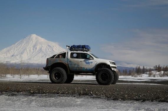 The official vehicle of the 2014 Sochi Winter Games - The Volkswagon, Polar expedition Amarok