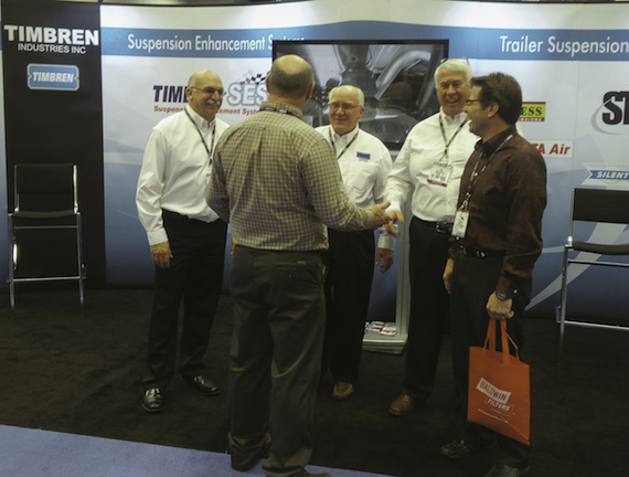 Timbren booth at the 2014 NTEA Work Truck Show