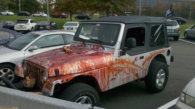 Create a Jeep Wrangler zombie killing machine