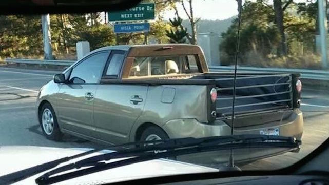 Maybe the scariest thing of all for Halloween - a Toyota Prius truck. I can hear the screams already.