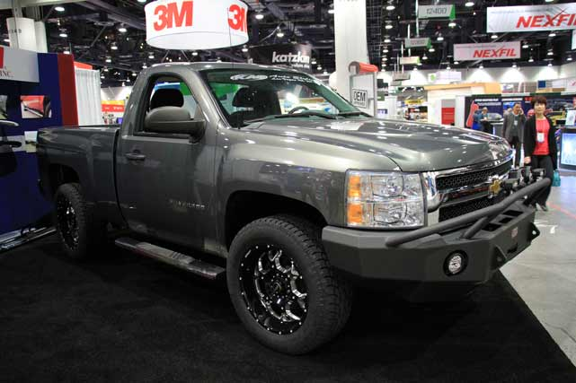 Chevrolet Silverado at the 2013 SEMA Show in Las Vegas, NV