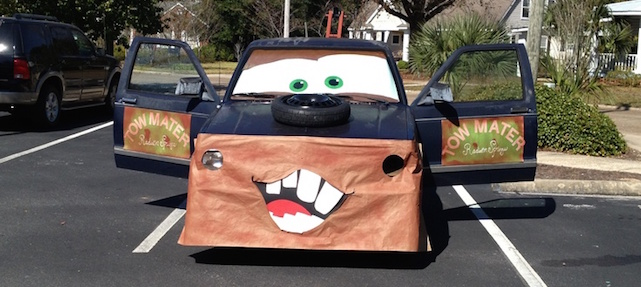 turn your truck into Mater from Disney's Cars