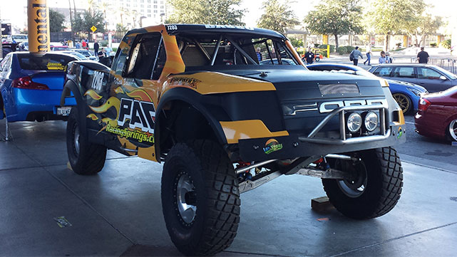 Ford Raptor Trophy Truck on display at the 2014 SEMA show