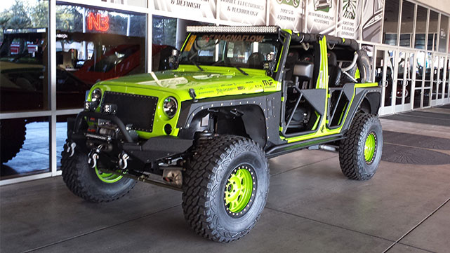 Another Jeep wheeling matching at the 2014 SEMA show