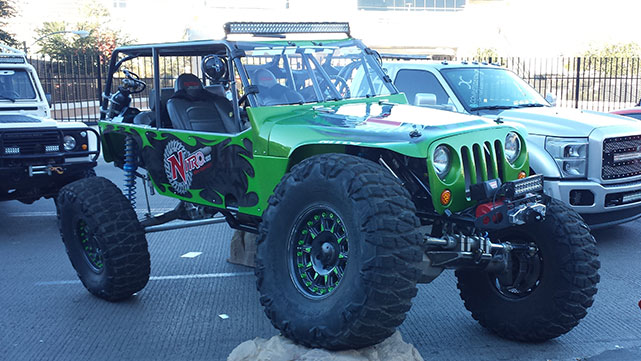 Jeep flexing its articulation at the 2014 SEMA show