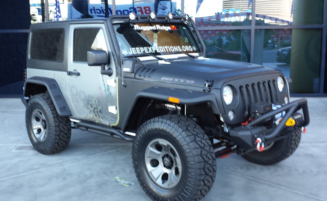 Rugged Ridge Jeep wrangler JK at SEMA