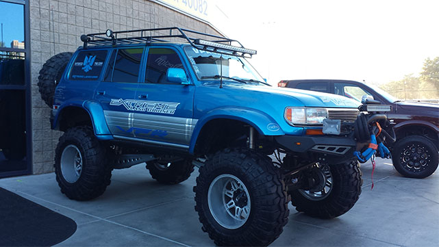 vehicle on display at the 2014 SEMA show