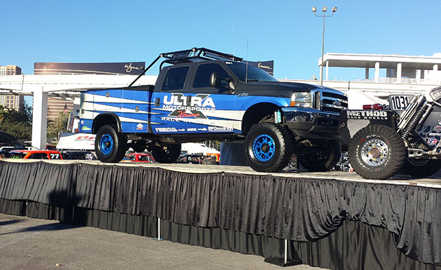 Truck on display at SEMA