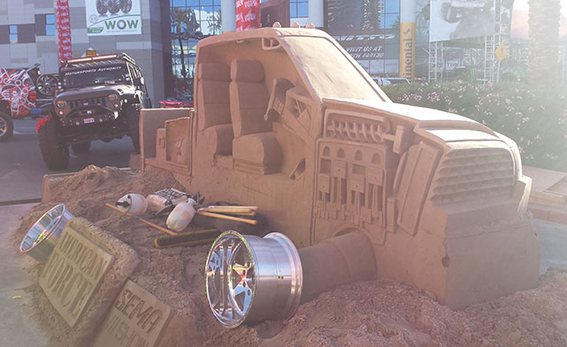 Sand castles are also in style at SEMA