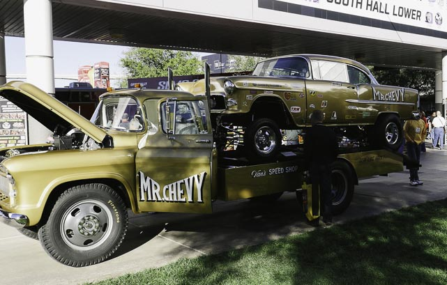 Mr.  Chevy the tow truck at SEMA