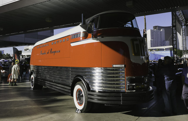 GM Parade Of Progress bus at SEMA