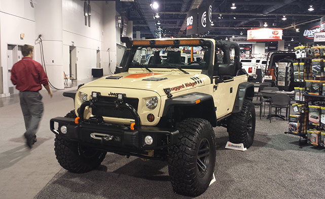 Rugged Ridge displaying their new Stamped front bumper