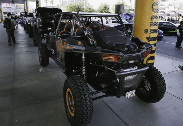 a Polaris atv at SEMA 2014
