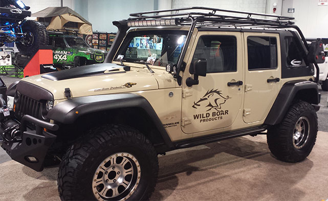 Wild Boar Product Jeep Wrangler Sahara at the 2014 SEMA show