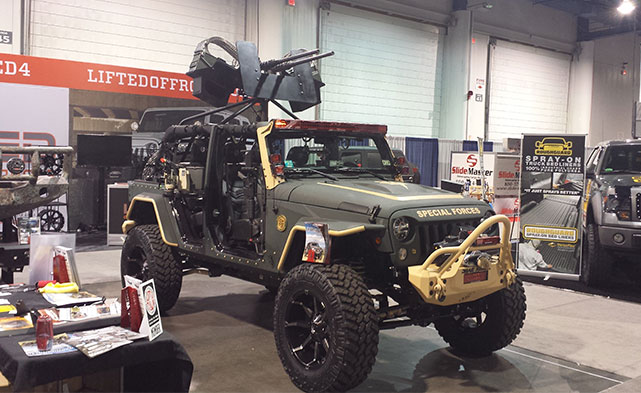 Guns on a Jeep at SEMA