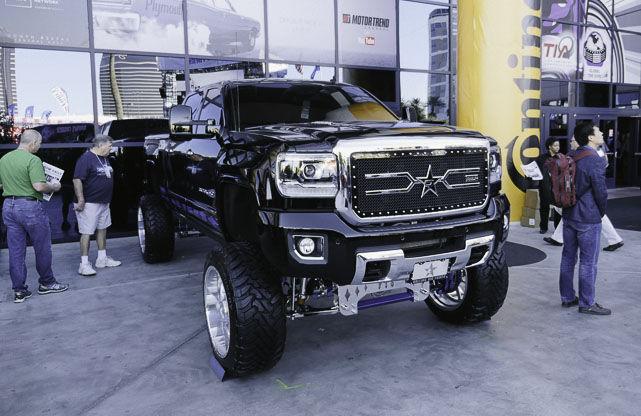 lifted trucks at SEMA