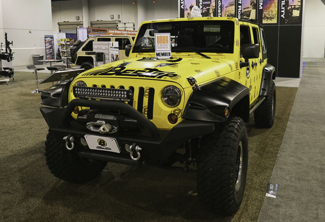 Bestop yellow Jeep JK