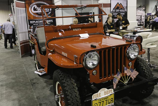 Willy's Jeep used as a fire department vehicle at SEMA