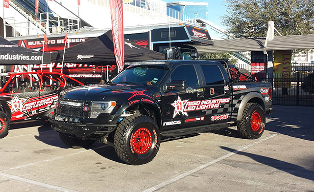 Rigid Industries shows off their truck at SEMA
