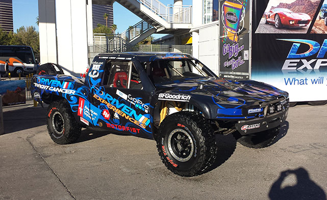 Trophy trucks at the SEMA show