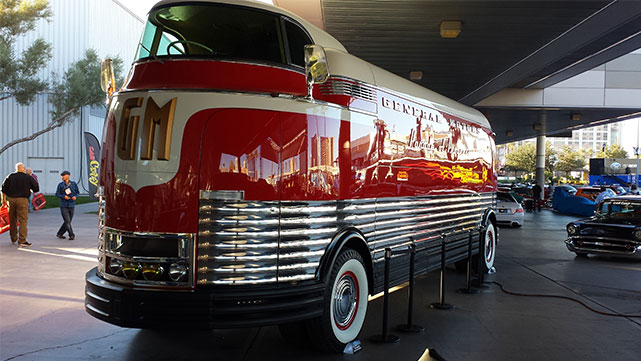 Retro General Motors (GM) bus at the 2014 SEMA show